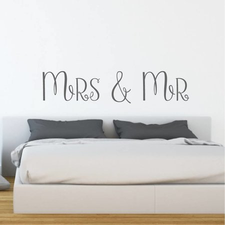 Muursticker Mrs & Mr