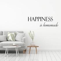 Muursticker Happiness is homemade