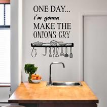 Muursticker Onions Cry