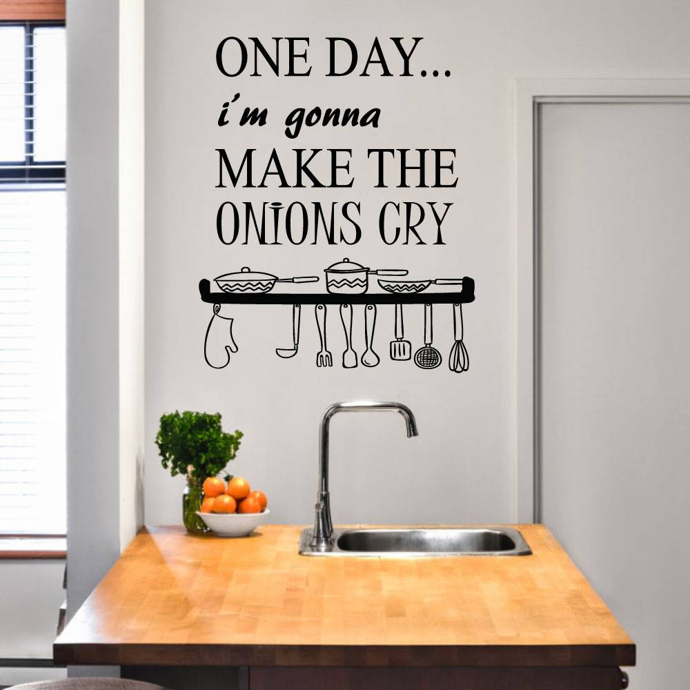 Muursticker Onions Cry