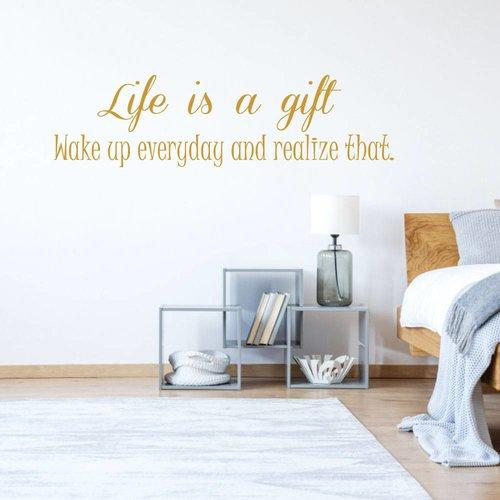 Muursticker life is a gift