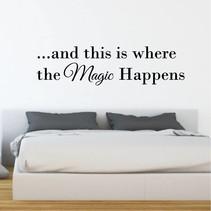 Muursticker This is where the magic begins