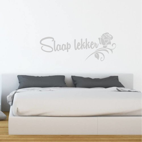 Muursticker Slaap lekker met roos