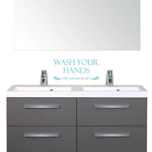 Muursticker Wash your hands mom said so
