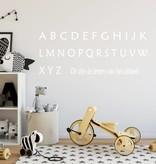 Muursticker Alfabet