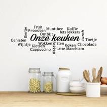 Muursticker Onze keuken