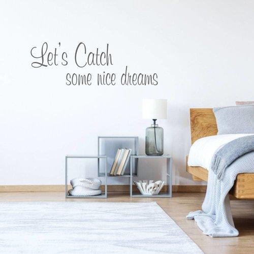 Muursticker let's get some nice dreams