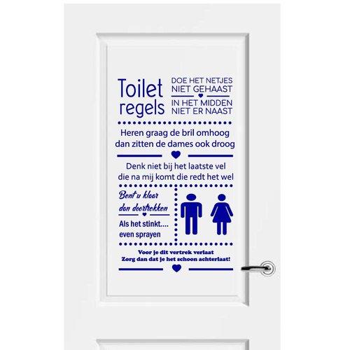 Muursticker Toiletregels