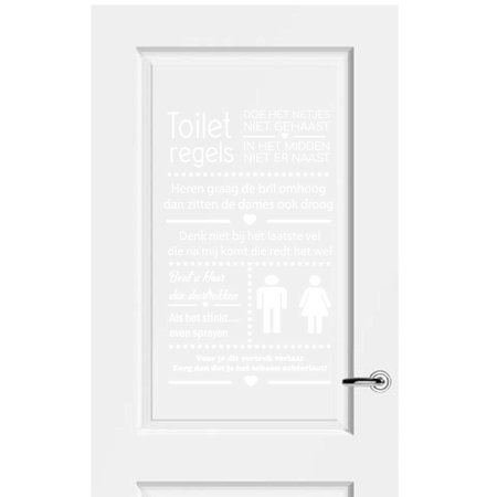 Muursticker Toiletregels