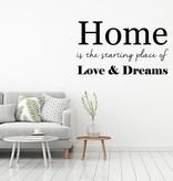 Muursticker Home, Love, Dreams