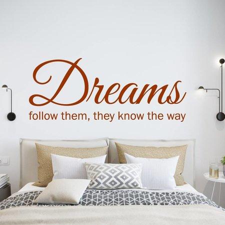 Muursticker dreams follow them they know the way