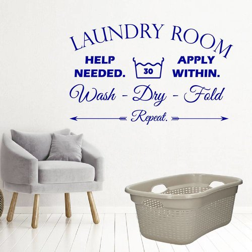 Muursticker laundry room