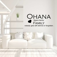 Muursticker ohana means family nobody gets left behind or forgotten