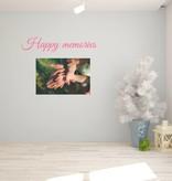 Muursticker Happy memories