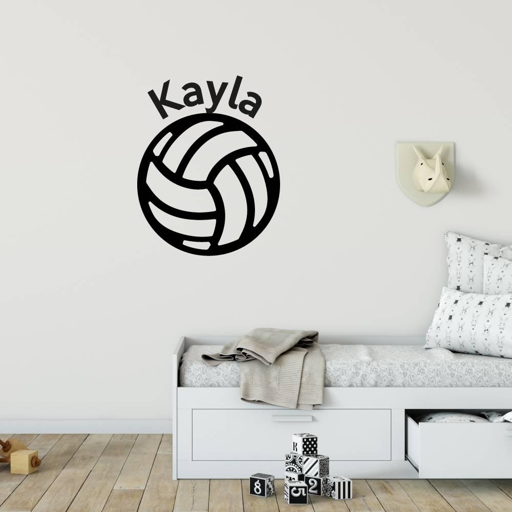 Muursticker Volleybal met naam