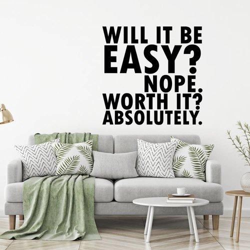 Muursticker will it be easy not worth it absolutely