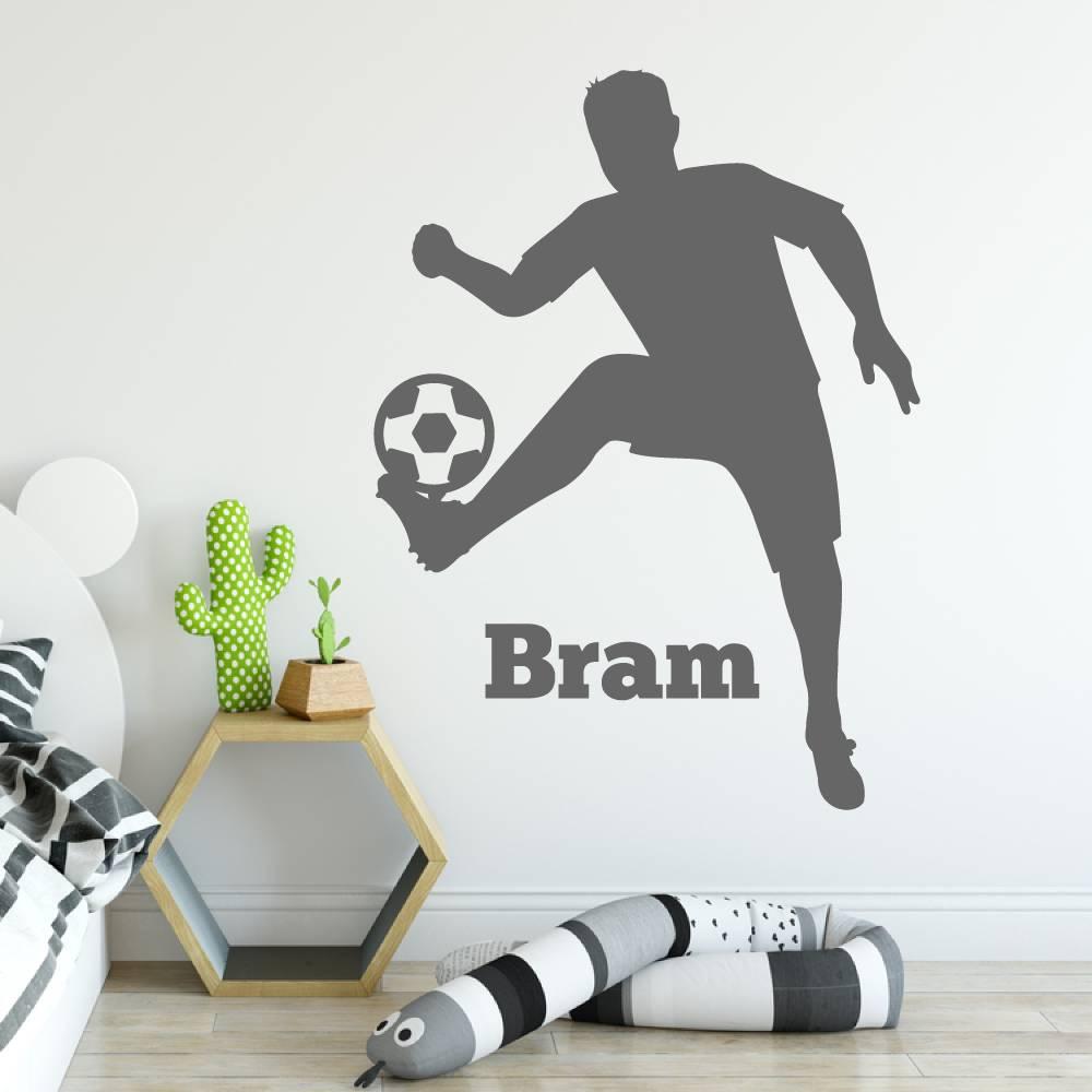 Muursticker voetbalspeler