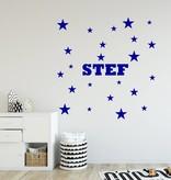 Muursticker sterren met naam