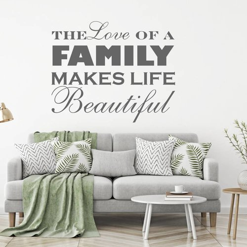 Muursticker the love of a family makes life beautiful