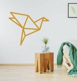 Origami muursticker vogel