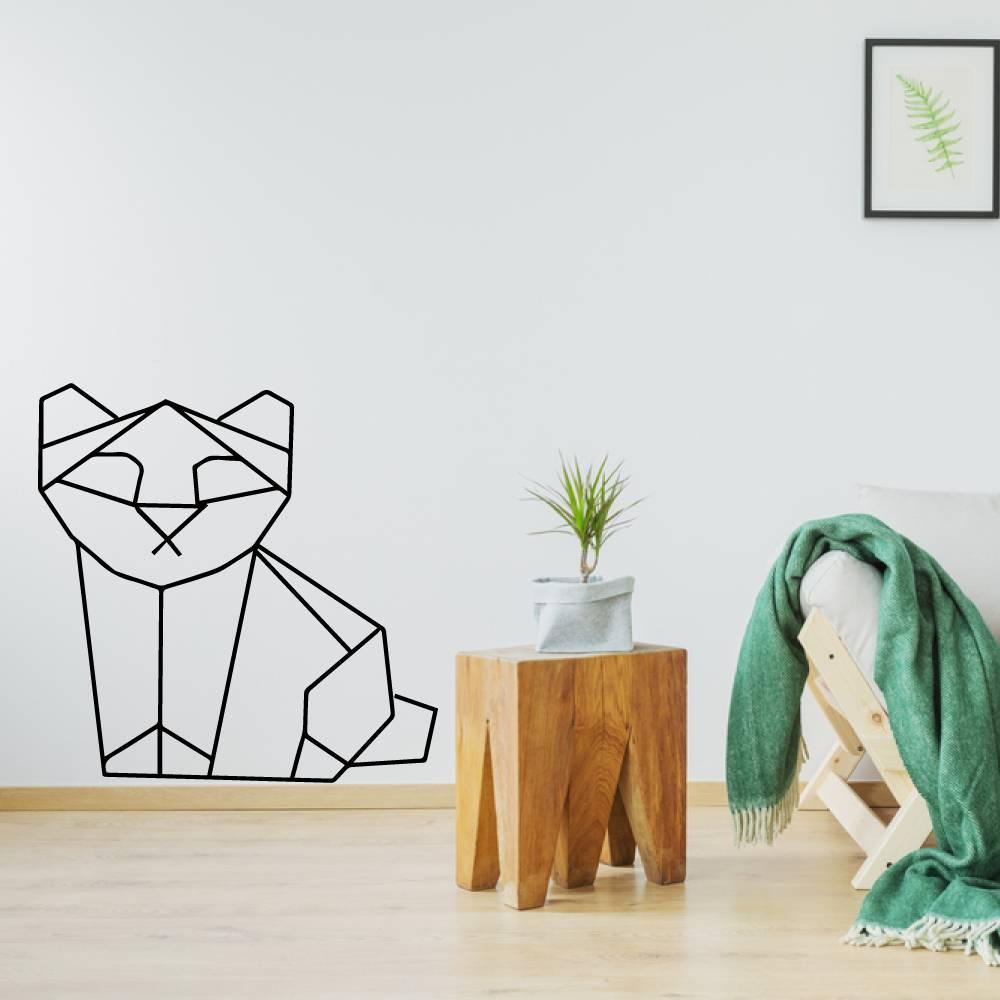Origami muursticker poes