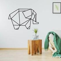 Origami muursticker olifant
