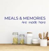 Muursticker keuken meals en memories