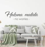Muursticker Hakuna matata no worries
