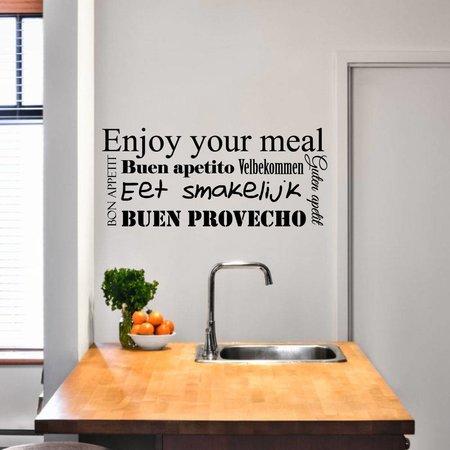 Muursticker Eet smakelijk in verschillende talen
