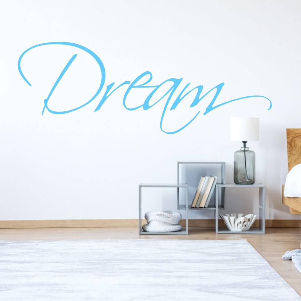 Muursticker Dream -  slaapkamer  engelse teksten
