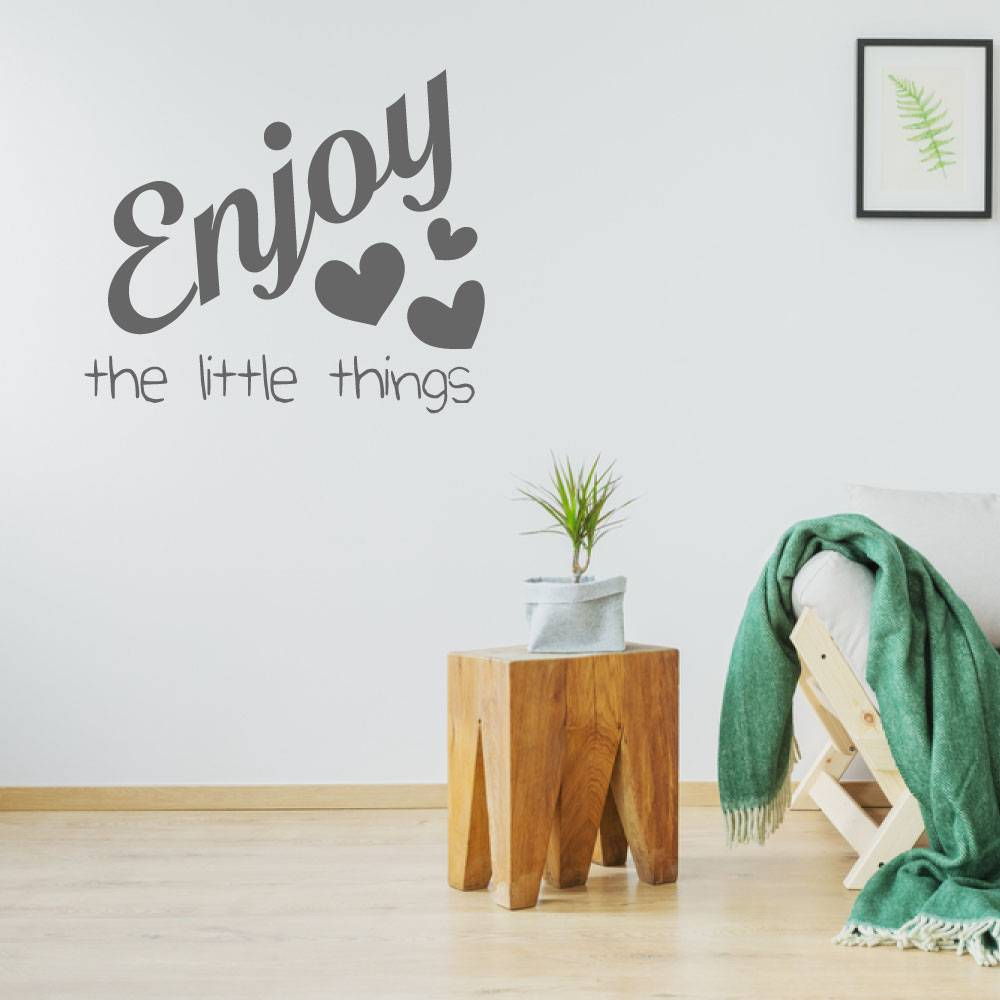 Muursticker Enjoy the little things -  slaapkamer  engelse teksten  woonkamer