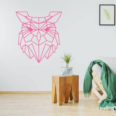 muursticker origami uil