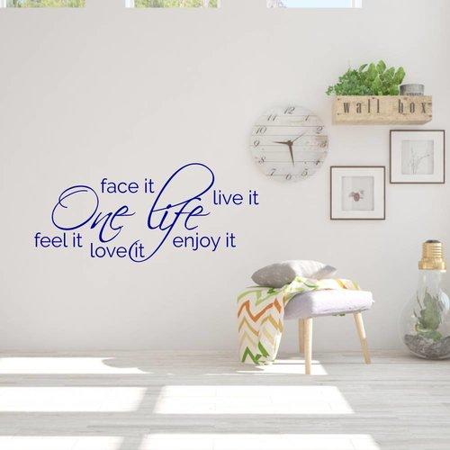Muurtekst One life