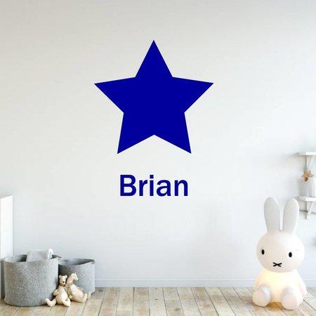 Muursticker ster met naam