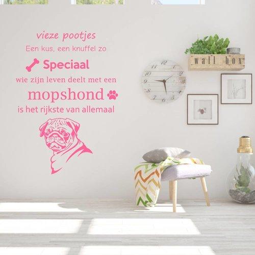 Muursticker Mopshond