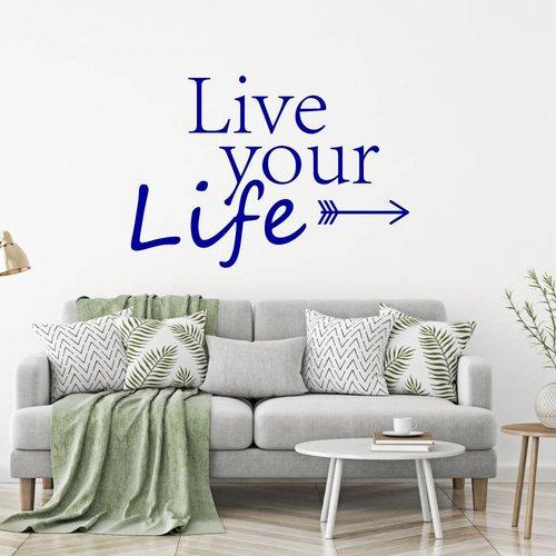 Muursticker Live your life pijl