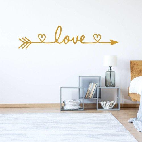 Muursticker Love met hartje