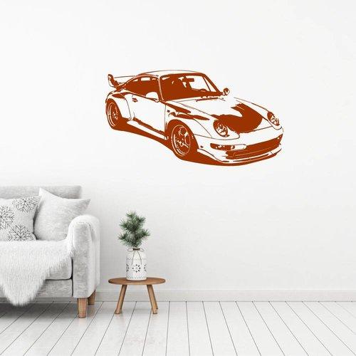 Muursticker sportwagen 2