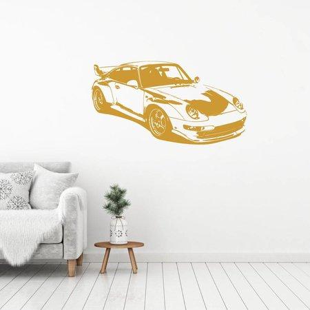 Muursticker Porsche 2