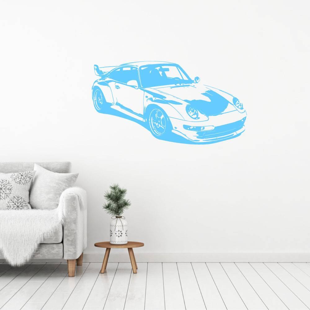 Muursticker sportwagen 2 -  slaapkamer  woonkamer  baby en kinderkamer