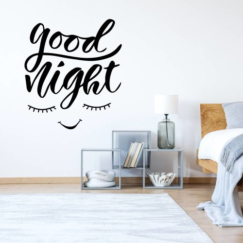 Muursticker Good night ogen
