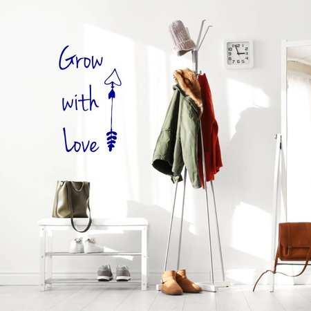 Muursticker Grow with love pijl