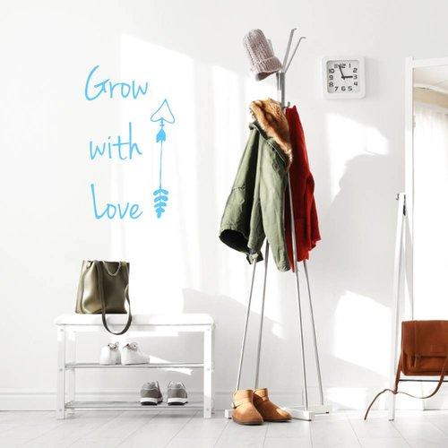 Muursticker Grow with love pijl