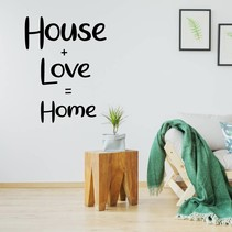 Muursticker house + love = home