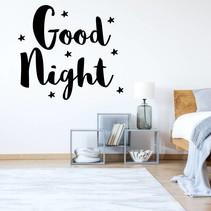Muursticker Good night ster