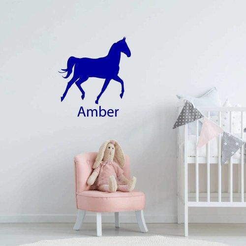Muursticker paard met naam