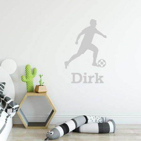 Muursticker Voetbal speler