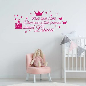 Muursticker once upon a time naam