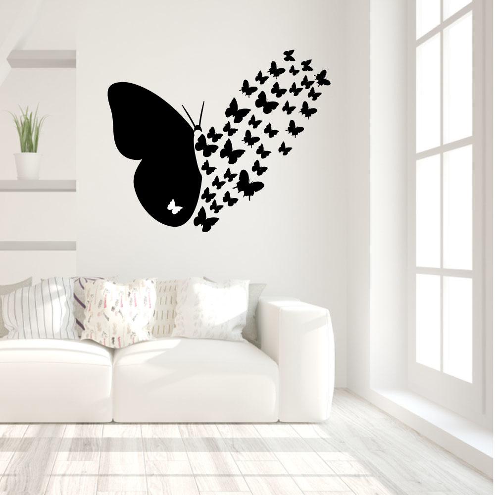 Muursticker vliegende vlinders