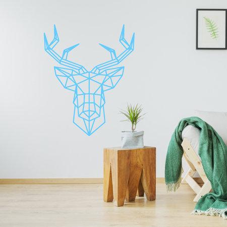 Origami muursticker hert